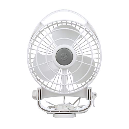 Caframo Bora. 12V Marine Fan. Direct Wire, Low Draw, 5000 Hour Motor Life. White