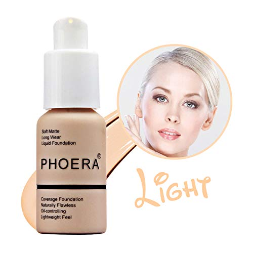 GL-Turelifes Matte Liquid Foundation, Concealer Cover Full Coverage Soft Matte, Oil Control Concealer, Brighten,Long Wear, Lightweight Feel Naturally Flawless All Day ()