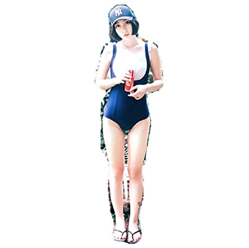 Hot Sexy Japanese Maid style Sukumizu School swimsuit One Pieces slimming swimsuit women bathing suit Shoulder belt With Pad (M, (Sexy Polar Bear Costume)
