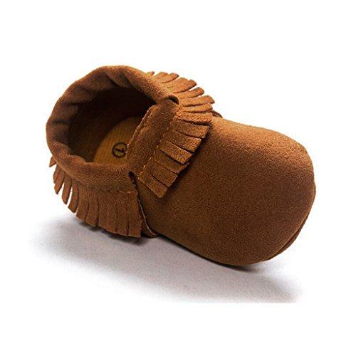 1x Zapatos Suaves Marginales única Mocasín Para Bebé Niños Niñas De Cuna - Púrpura, 11cm marrón