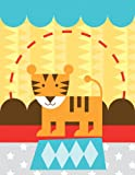 Oopsy daisy, Fine Art for Kids Circus Tricks Tiger Stretched Canvas Art by Clare Birtwistle, 14 by 18-Inch