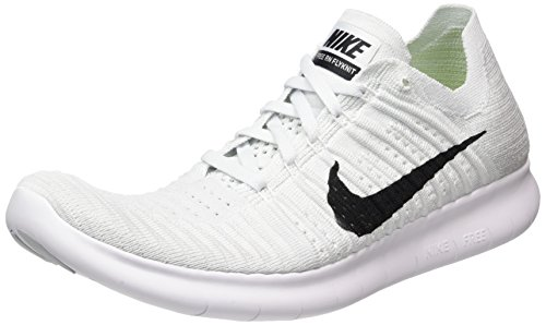Nike Men's Free Run Flyknit Running Shoes Sneakers White Size 11