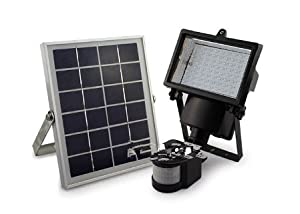 COCO Outdoor Solar Night Light Kit,80 LED 480 LM White Floodlights Spotlights Solar Panel Powered Motion Sense Light Control Lamp Waterproof Dusk to Dawn 8 Hours for Garden Patio Deck Yard Path Pool