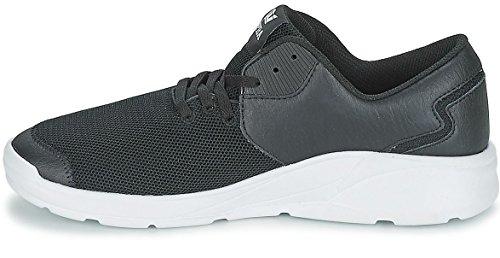 Supra Noiz Negro Blanco Hombres Cuero Zapatos Trainers