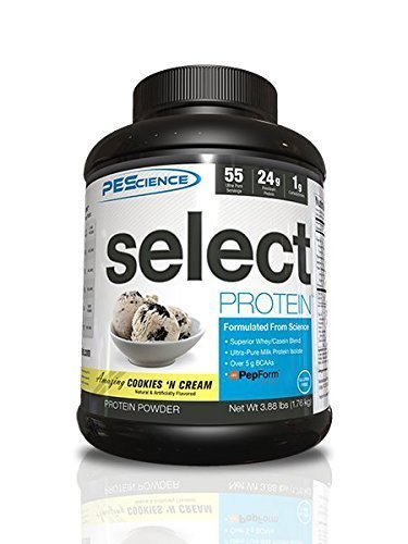 Plus Peptide Cream Complex (PEScience Select Protein, Cookies and Cream, 55 Serving, Premium Whey and Casein Blend)