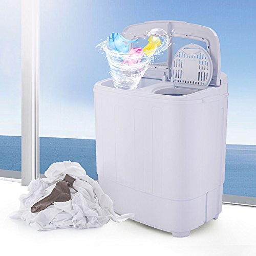 JAXPETY Portable Washing Machine Compact Wash Spin Dry Cycle Laundry with Built-In PUMP