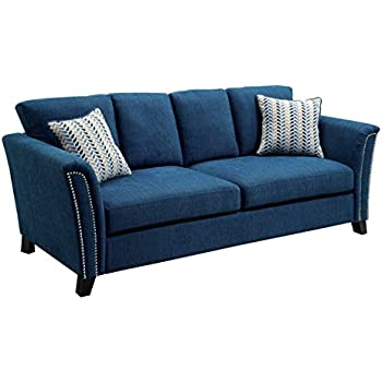 amazoncom furniture of america heyer contemporary sofa