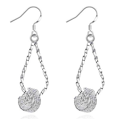 fonk: silver plated earrings Fashion Tennis drop cufflinks love SMTE281