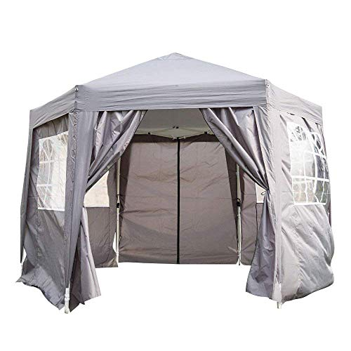 Kinbor 12'x10' Hexagon Tent Portable Adjustable Instant Pop Up Gazebo ()