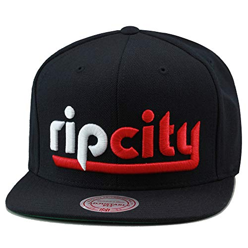 - Mitchell & Ness Portland Trail Blazers Rip City Snapback Hat Cap Black/Red/White
