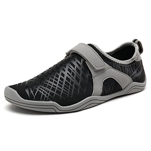 DREAM PAIRS Women's 160930-W Black Grey Slip On Athletic Water Shoes - 9 M US