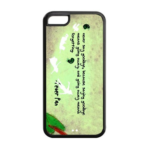 Fashion Peter Pan Apple Iphone 5C Case Cover TPU Personalized Quotes