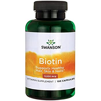 Swanson Biotin 5,000 mcg 100 Caps