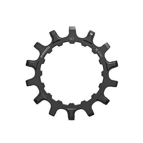 Negro,Acero,Direct Mount Sram Pi/ñ/ón X-Sync para Motor Bosch 14 d