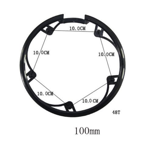 Joan Bicycle Chainring Sprockets Cranksets Guard Protector 48t 5 Bolts 100mm, Bike Chainstay (Bike Bolt)