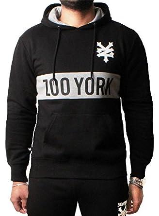 7b2324e9ddc6 Zoo York Herren Hoodie Pullover Printed Pullover Sweatshirt Jacke Top  Reißverschluss,Goofy Anthrazit S