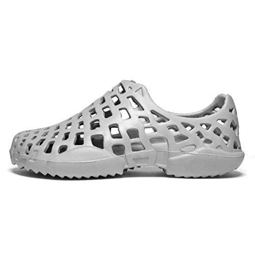 Couleur mode Taille marque de Chaussures Unisexe Gris 37eu 5uk respirante paire d'été Sandales de 3 Blanc de Zhrui xPnzWx