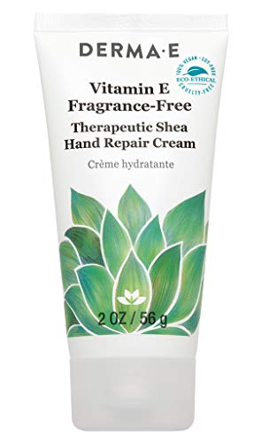 Derma-e Vitamin E Fragrance-free Therapeutic Moisture Shea Hand Cream, 2 Ounce