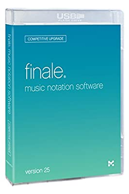 MakeMusic Finale Competitive Upgrade: Music Notation Software, Version 25