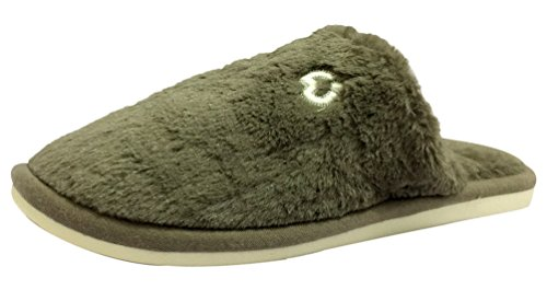 Indoor Cozy Thickening Warm Plush Slip Outdoor Hehainom and Unisex Gray On Slippers RgxBF4X