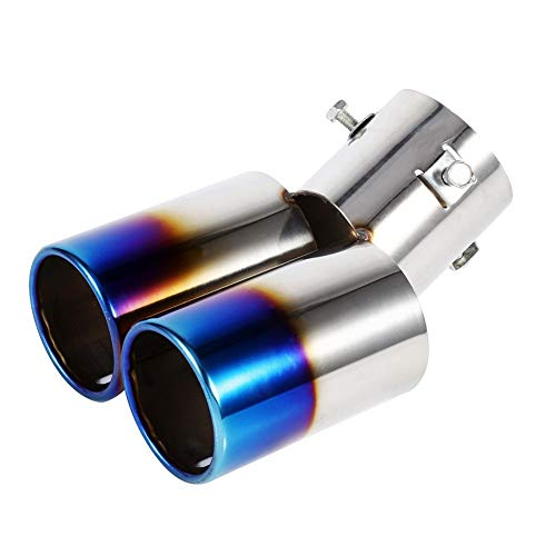 WESEEDOO Exhaust Tail Pipe Silencer Muffler Tip Exhaust Pipe Double Exhaust Pipe Exhaust Tip Exhaust Pipe Blue: Amazon.co.uk: Kitchen & Home