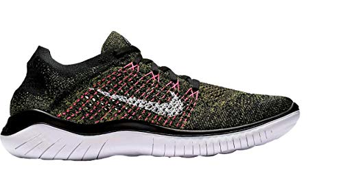 Nike Men's Free RN Flyknit Running Shoe (9 M US, Black/White-Laser Orange-Pink Blast) (Shoes Free B)