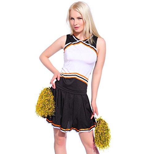 [Ladies Sexy Varsity High School Cheer Girl Cheerleading Uniform Halloween Fancy Dress Costume] (Storybook Fairytale Costumes)