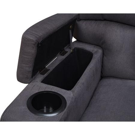 ProLounger RCL16-AAA85 Storage Arm Wall Hugger Microfiber Recliner, Charcoal Gray by Handy Living