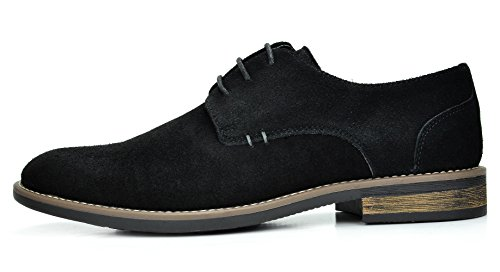 Bruno Marc Mens Urban Mocka Snörning Oxfords Skor 8-svart