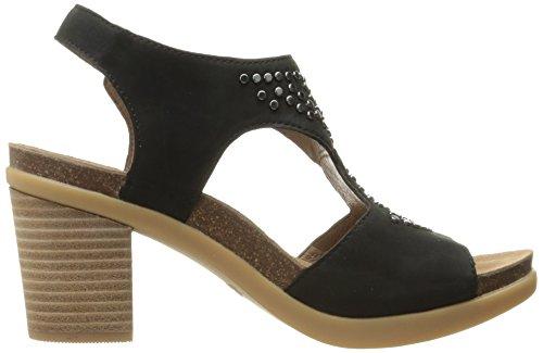 Black Deandra Dansko Heeled nubuck Women's Sandal IUa6fqw760