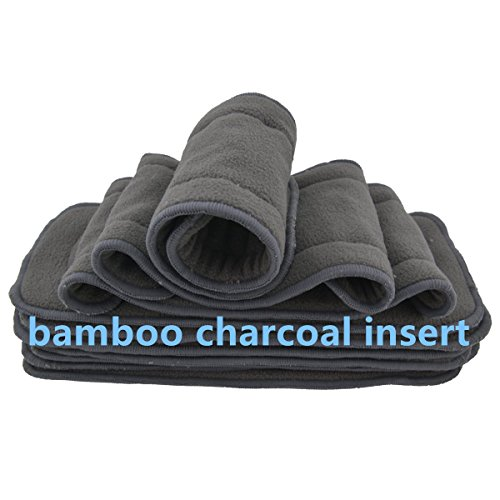 LilBit U Pick Reusable Baby Cloth Diaper(Please email us the color you want ) (with bamboo charcoal inserts, 15 diapers + 15 inserts) by LilBit (Image #4)
