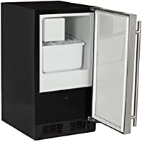 Marvel 15iM-BS-F-R Indoor Compact Crescent Ice Machine, Right Hinge, 15-Inch, Stainless Steel