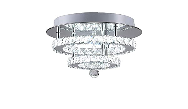 Apliques Pared Candelabros de cristal de acero inoxidable moderno de alta potencia 36W Lámparas brillantes nueva Sala de estar Iluminación de candelabro de brillo llevado, color de emisión: La luz bla: Amazon.es: