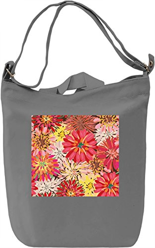 Flowers Texture Borsa Giornaliera Canvas Canvas Day Bag| 100% Premium Cotton Canvas| DTG Printing|