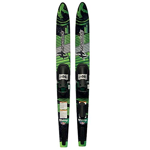 Hydroslide Adult Victory Water Skis Combo Pair, Black, 66-Inch