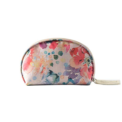 Makeup Bag Organizer Portable Shell Cosmetic Bag Travel Clutch Purse Small Toiletries Pouch Handbag Waterproof Make-up Storage Cases for Women (Beige ()