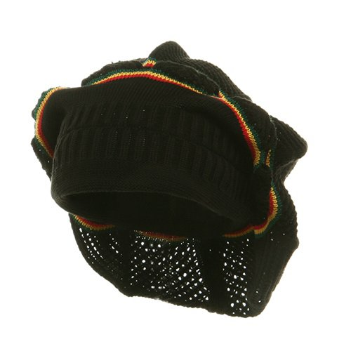 (New Rasta Knitted Without Brim Hat - Black RGY (for Big Head))