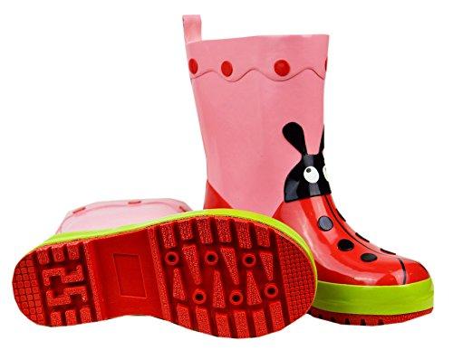 Maximo Mädchen Gummistiefel / Regenstiefel Marienkäfer 53203-7189 in hellrot (hellrot 73) Pink