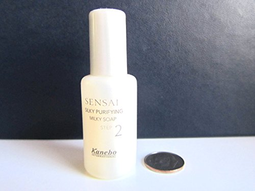 Kanebo Sensai Silky Purifying Milky Soap Cleanser, Step 2, Sample Size, 8 mL, 0.27 ()
