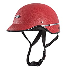 Habsolite HB-MWR Mini Wrinkle All Purpose Safety Helmet with Quick Release Strap for Men & Women (Red, one size)
