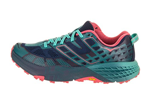 Hoka One One Women's Speedgoat 2 Trail Shoe (9.5, Peacoat/Ceramic) by Hoka One (Image #2)