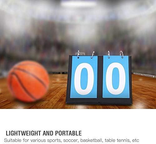 Wolfgo Anzeiger-Portable-Flip Sport Anzeiger Torzähler for Tischtennis Basketball (2 Digit-Blau)