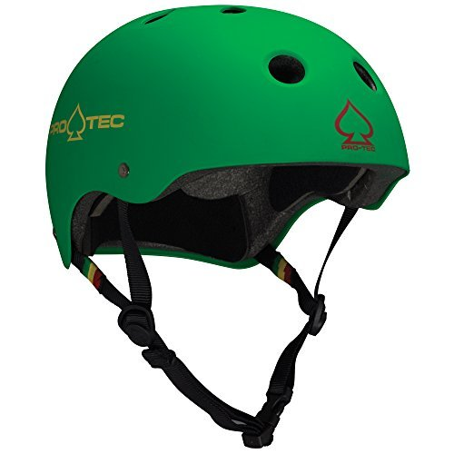 (Protec The Classic Helmet - Matte Rasta Green by ProTec)