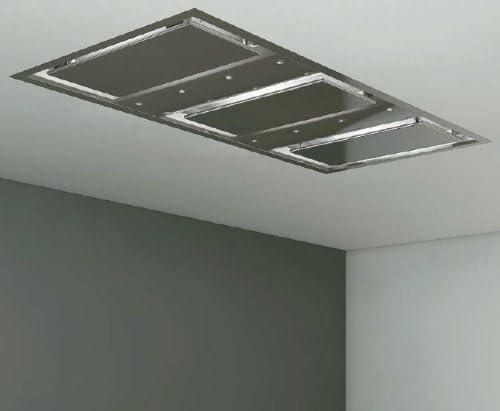 Pando E-260 2100 m³/h De techo Acero inoxidable - Campana (2100 m³/h, Canalizado, 56 dB, 70 dB, De techo, Acero inoxidable): Amazon.es: Hogar