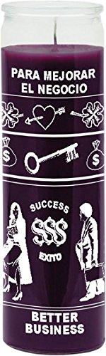 Indio Products Better Business Purple Candle - Silkscreen 1 Color 7 Day by Indio Products