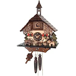 River City Clocks One Day Cottage Cuckoo Clock, Beer Drinker Raises Mug
