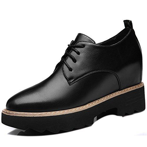 U-mac Wig Sneakers Voor Dames Hoge Platform Lace-up Mode Sneaker Casual Schoenen Zwart