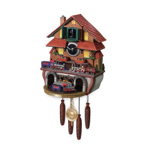 The Bradford Exchange Train Cuckoo Clock: Golden Spike