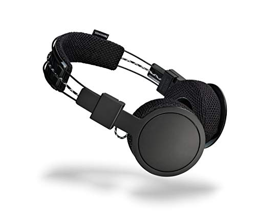 Urbanears Hellas On-Ear Active Wireless Bluetooth Headphones, Black Belt (4091227) (Renewed)
