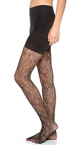 - Spanx Women's Uptown Tight-End Tights? Look-At-Me Lace Black a